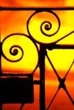 Art nouveau. A little gate with art nouveau style Royalty Free Stock Images
