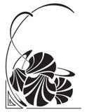 Art nouveau. An elegant Corner Art Nouveau design Royalty Free Stock Images