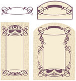 Art Nouveau. Vector drawing of Art Nouveau style. Ready for the text of your choice Royalty Free Stock Photos