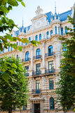 Art Nouveau architecture - building facade of Riga city. Art Nouveau architecture - building facade of old Riga city Royalty Free Stock Photography