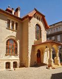 Art Nouveau architecture of the city Lodz,Poland Royalty Free Stock Photo