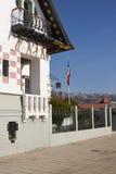 Art Nouveau Architecture i Valparaiso arkivfoton