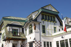 Art Nouveau Architecture i Valparaiso arkivbild