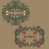 Art nouveau, art deco, modern, vintage elements Royalty Free Stock Images