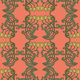Art nouveau, art deco, modern, vintage elements seamless pattern Stock Photo