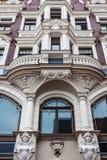 Art Nouveau-Art in der Architektur frühen XX Jahrhunderts in Riga, L Lizenzfreie Stockbilder