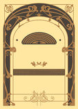 Art Nouveau Background et cadre illustration de vecteur