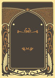Art Nouveau Background and Frame Royalty Free Stock Photo