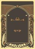 Art Nouveau Background y marco