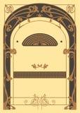 Art Nouveau Background y marco Imagenes de archivo