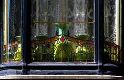 Art nouveau bay window Royalty Free Stock Photos