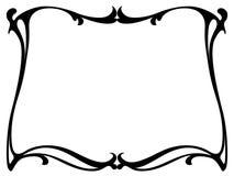 Art nouveau black ornamental decorative frame Stock Image