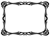 Art nouveau black ornamental decorative frame Stock Photography