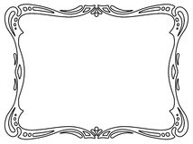 Art nouveau black ornamental decorative frame Royalty Free Stock Image