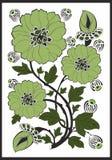 Art Nouveau - blommamodell Arkivbild