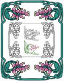 Art nouveau border Royalty Free Stock Photography