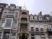 Art nouveau in Brussels. Art nouveau style in Brussels, Belgium Royalty Free Stock Photos