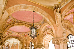 Art nouveau building Stock Images