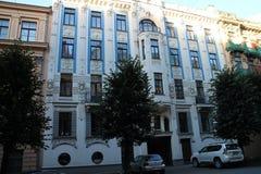 Art nouveau building in Albert street, Riga Stock Image