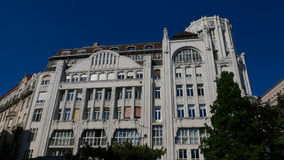 Art nouveau building in the center of budapest. Beautiful buildi Stock Photography