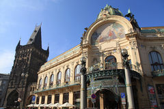 Art nouveau building, Municipal House, Prague, Czech Republic. Royalty Free Stock Photography