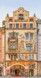Art nouveau building in Prague Stock Photos