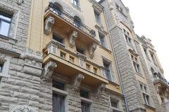 Art Nouveau building in Riga. Stock Photos