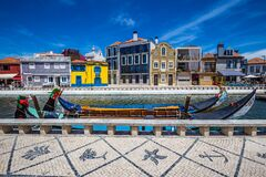 Free Art Nouveau Buildings And Boats - Aveiro, Portugal Royalty Free Stock Photography - 169605597