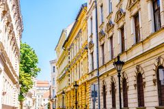 Art nouveau buildings in the old town of Budapest - Hungary stock photo