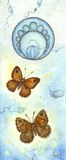 Art nouveau butterflies Stock Photo