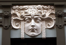 Art Nouveau byggnadsfasad fotografering för bildbyråer