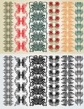Art nouveau colection pattern Royalty Free Stock Photography