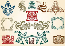 Art nouveau collect Stock Images