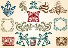 Art nouveau collect stock illustration