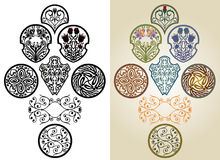 Art nouveau collection Royalty Free Stock Photo