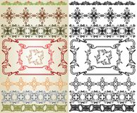 Art nouveau cross element Stock Photos