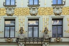 Art Nouveau-de bouw, Wenen stock foto