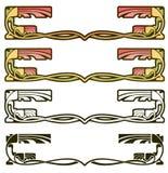 Art Nouveau Decorative Motif Foto de archivo libre de regalías