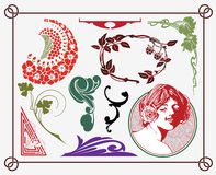 Art-nouveau design Stock Photography