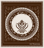 Art nouveau design Royalty Free Stock Photos