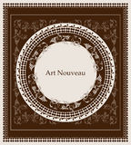 Art nouveau design Royalty Free Stock Image