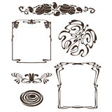 Art nouveau design elements Stock Images