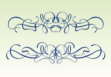 Art nouveau design elements Royalty Free Stock Images