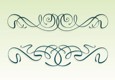 Art nouveau design elements. Set of art nouveau design elements - Modern style scrolls and flourishes Stock Image
