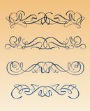 Art nouveau design elements. Set of art nouveau design elements - Modern style scrolls and flourishes Stock Photos