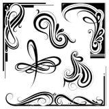 Art nouveau design elements Royalty Free Stock Image
