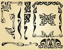 Art Nouveau design framework Royalty Free Stock Photos