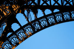 Art nouveau detail. Detail of the Eiffel tower, the greatest example of the Art-nouveau, Paris Royalty Free Stock Photography