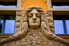 Art Nouveau. Detail of an Art Nouveau Building in Riga, Latvia Royalty Free Stock Images