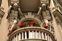 Art Nouveau. Detail of an Art Nouveau Building in Zagreb, Croatia Royalty Free Stock Photography